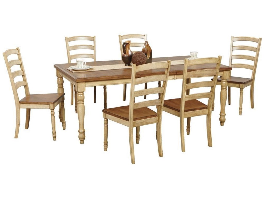 Winners Only Quails Run 5 Dining Set Includes Table 4 Ladder Back