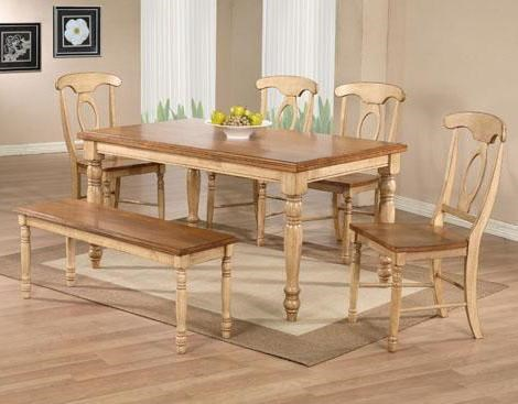 Winners Only Quails Run 6 Piece Leg Table Napoleon Side Chair And