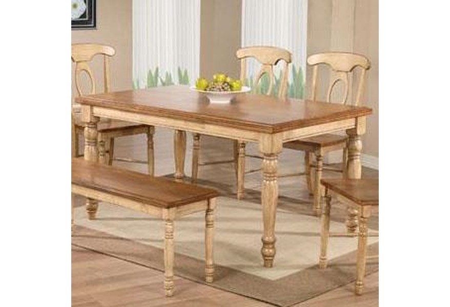 Quails Run 6 Piece Dining Table, Chair and Bench Set