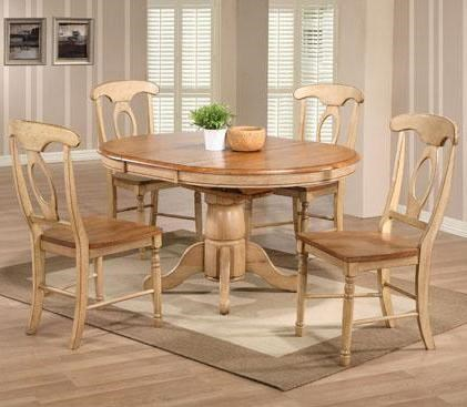 Winners Only Quails Run 5 Piece Round Table And Napoleon Chair Set