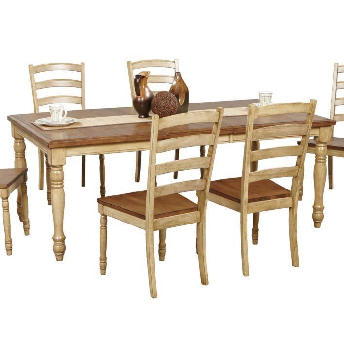 robins lane rectangular leg table with turned legs - rotmans