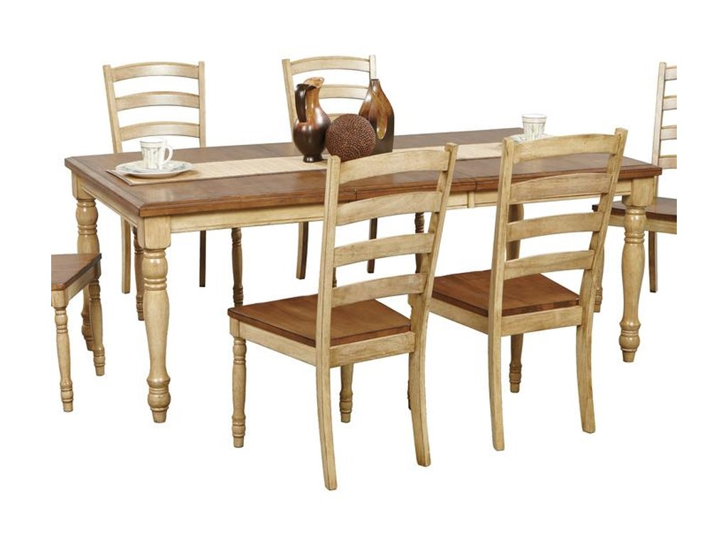 Winners Only Quails Run Rectangular Leg Table With Turned Legs