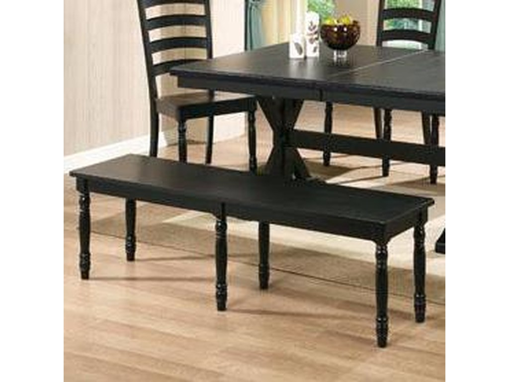 Winners Only Quails Run6 Piece Dining Table, Chair and Bench Set
