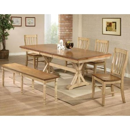 6 Piece Table, Chair, and Bench Set