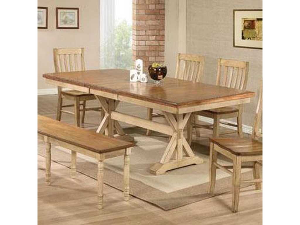 Winners Only Quails Run6 Piece Table, Chair, and Bench Set