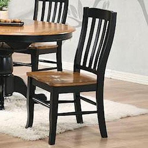 Winners Only Quails Run Rake Back Side Chair Pilgrim Furniture City Dining Side Chair
