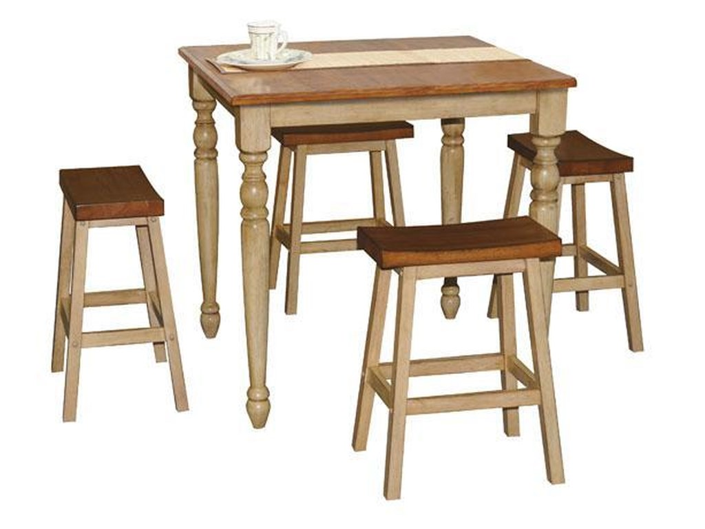 Winners Only Quails Run5 Piece Tall Table and Barstool Set