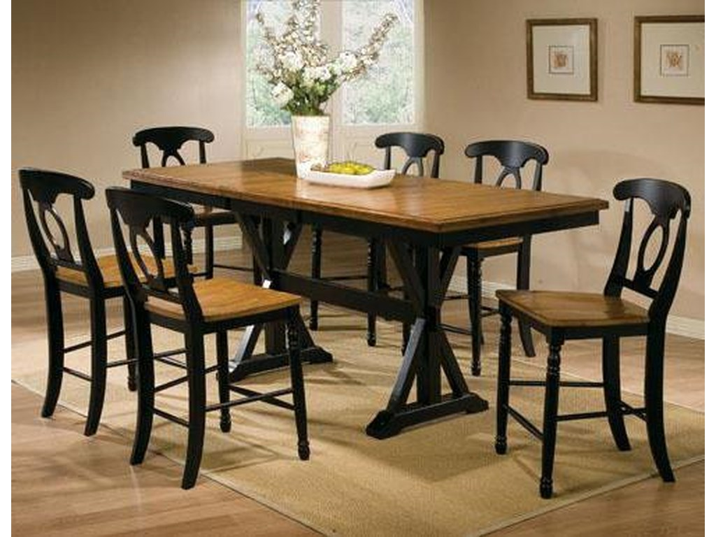 Winners Only Quails Run7 Piece Tall Table with Barstools