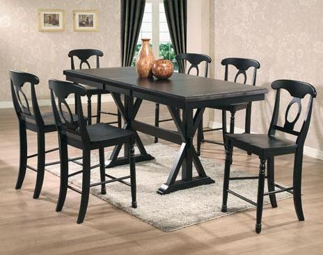 Winners Only Quails Run 7 Piece Tall Table With Napoleon