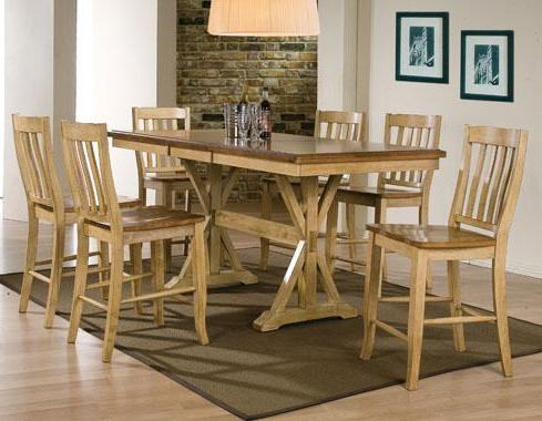 Winners Only Quails Run 7 Piece Tall Table And Rake Back