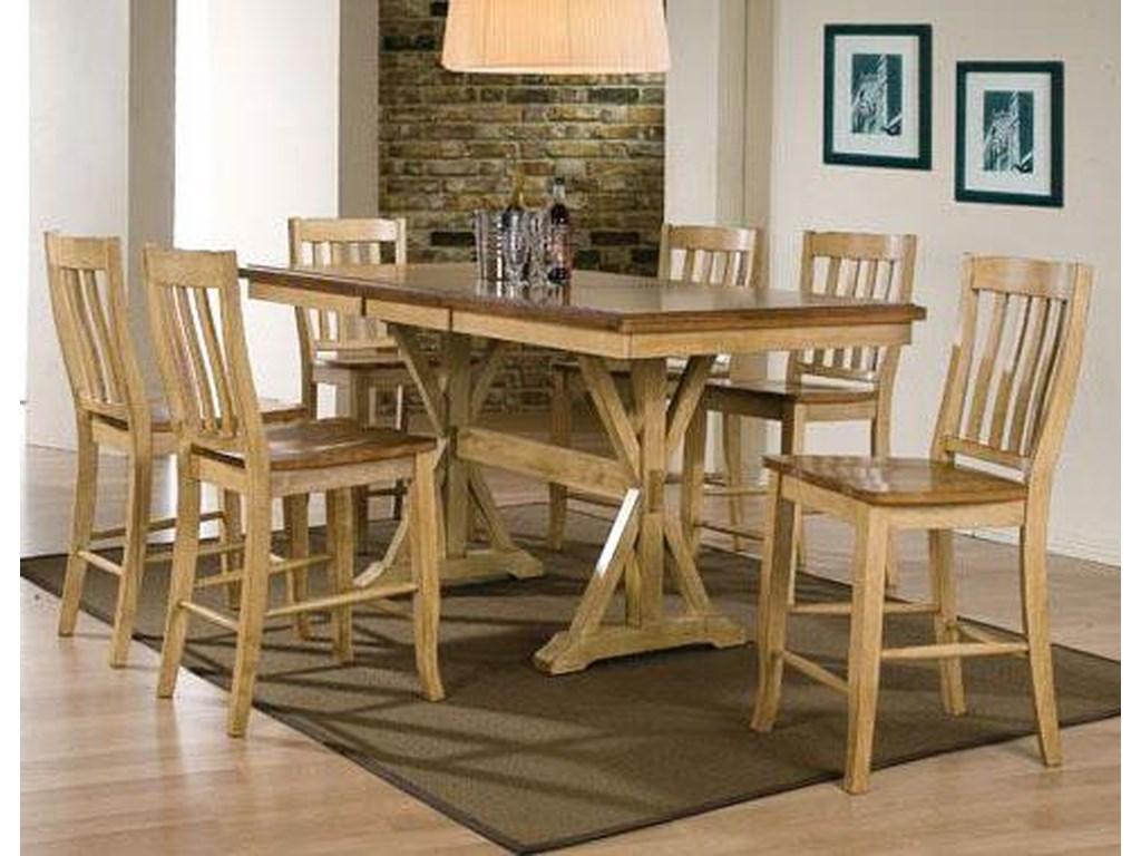 Winners Only Quails Run7 Piece Tall Table and Barstool Set