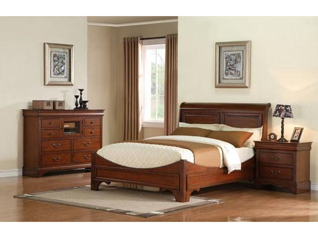 Winners Only LorenzoQueen Sleigh Bed