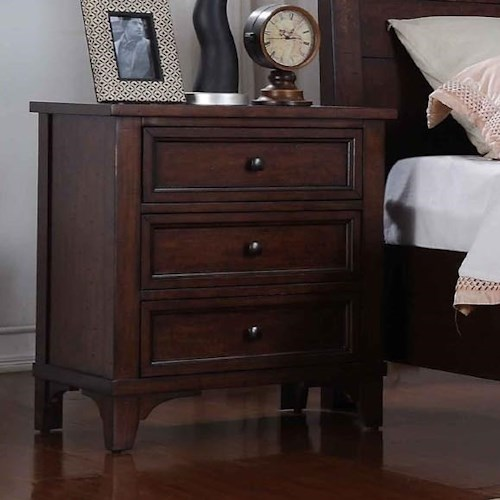 Winners Only Retreat 3-Drawer Nightstand