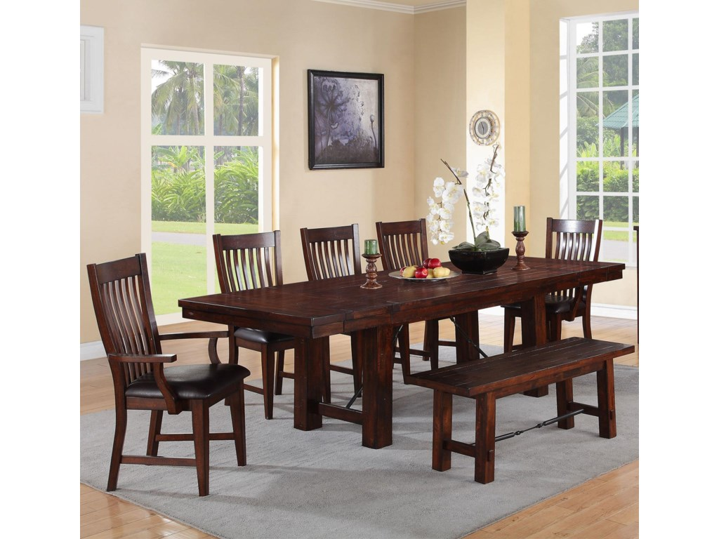 Winners Only Retreat7-Piece Dining Set with Bench
