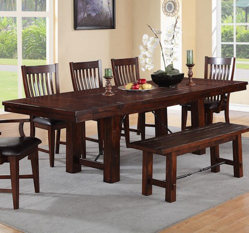Winners Only Retreat Trestle Table with Turnbuckle Detail
