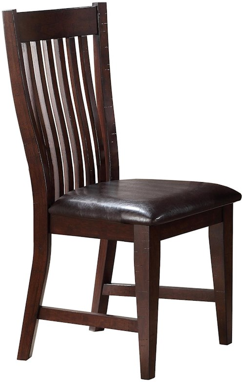 Winners Only Retreat Slat Back Side Chair With Upholstered