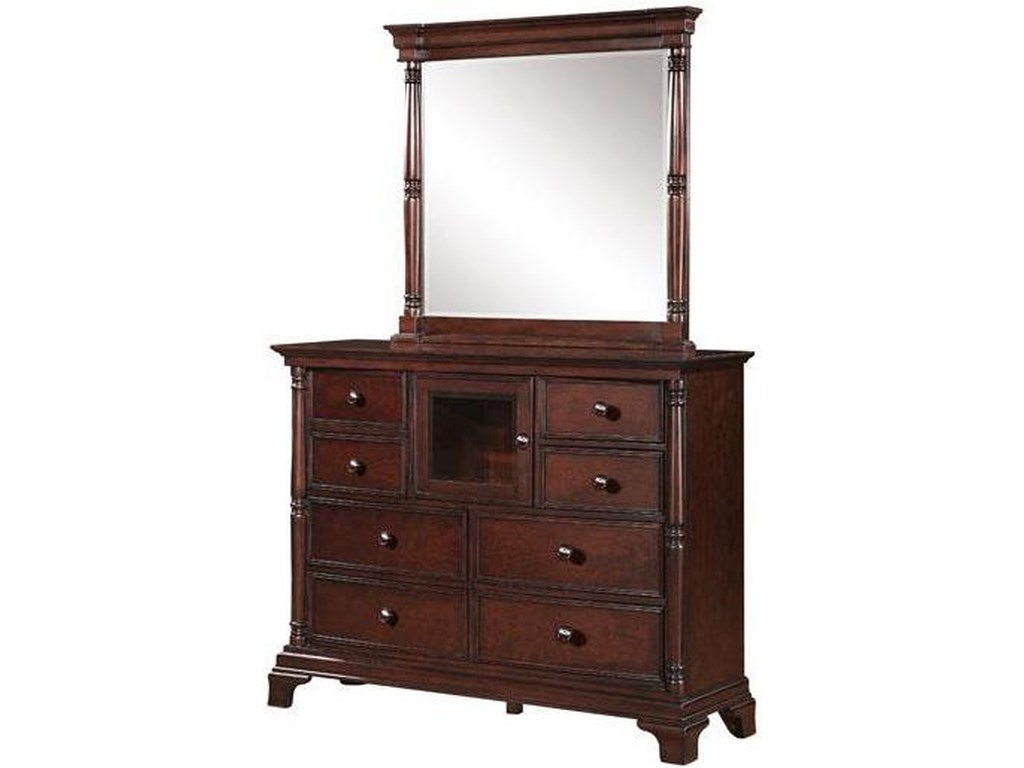 Winners Only Ridgecresttall Dresser And Mirror Set