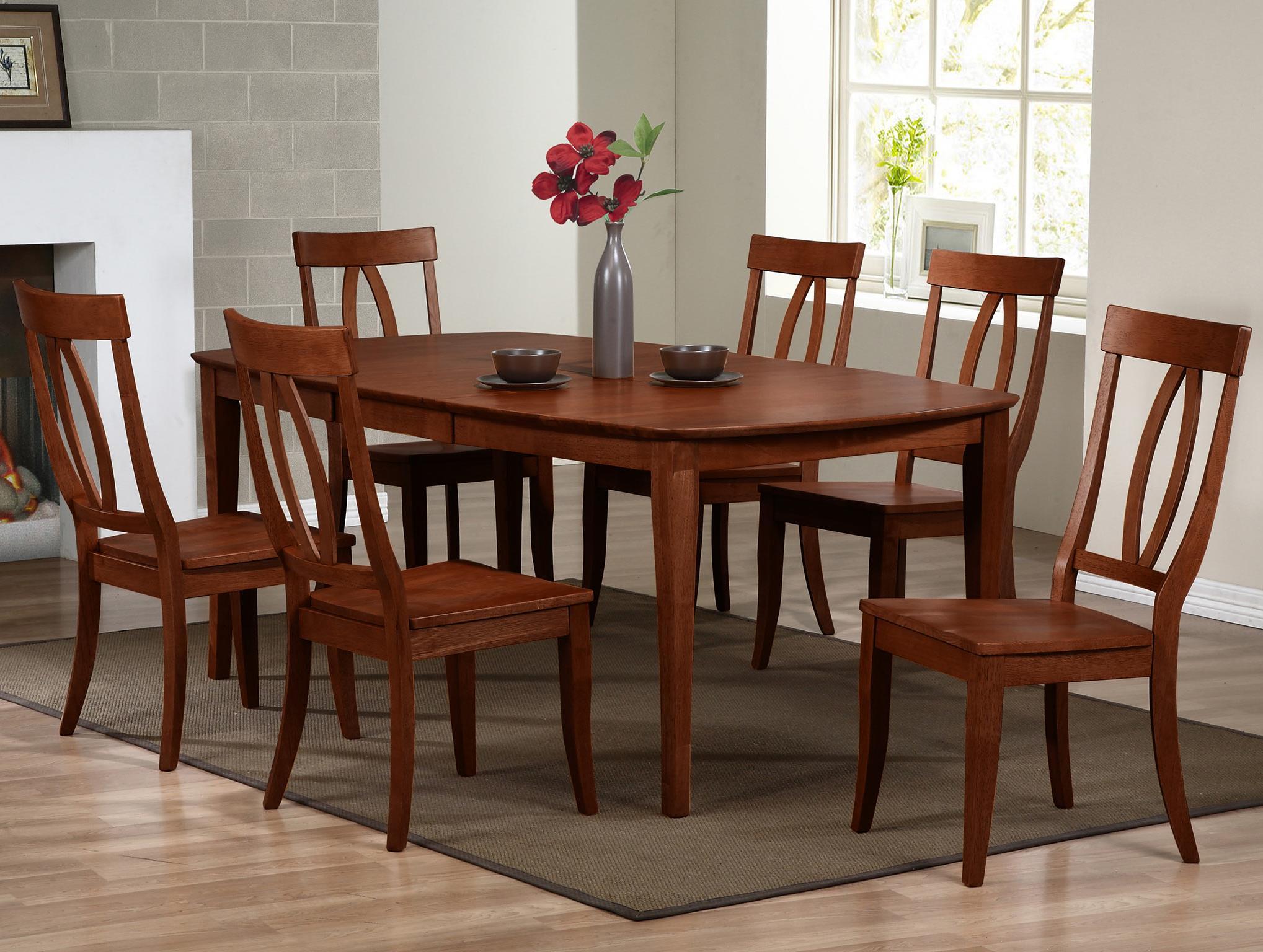 Santa Barbara SBF 7 Piece Dining Set With Keyhole Back Chairs