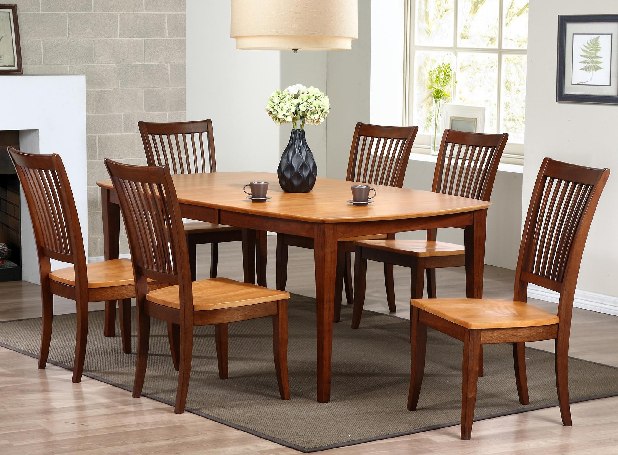 slat back chairs. Winners Only Santa Barbara7 Piece Dining Set With Slat Back Chairs