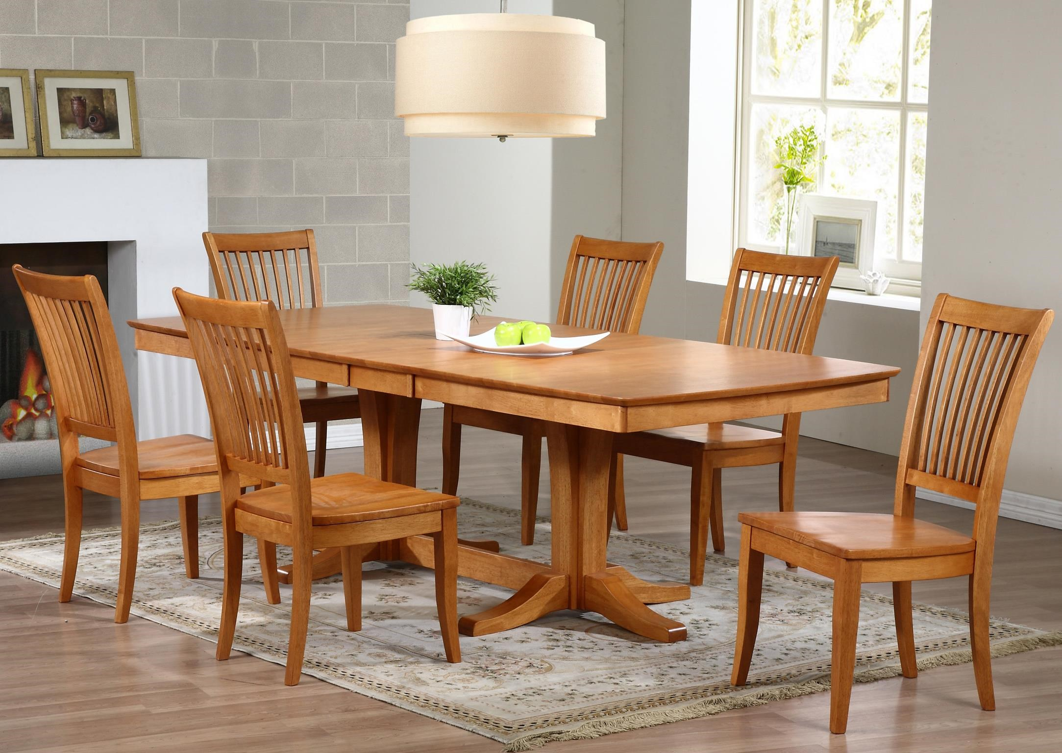 Winners Only Santa Barbara SBF 7 Piece Dining Set With Slat Back Chairs