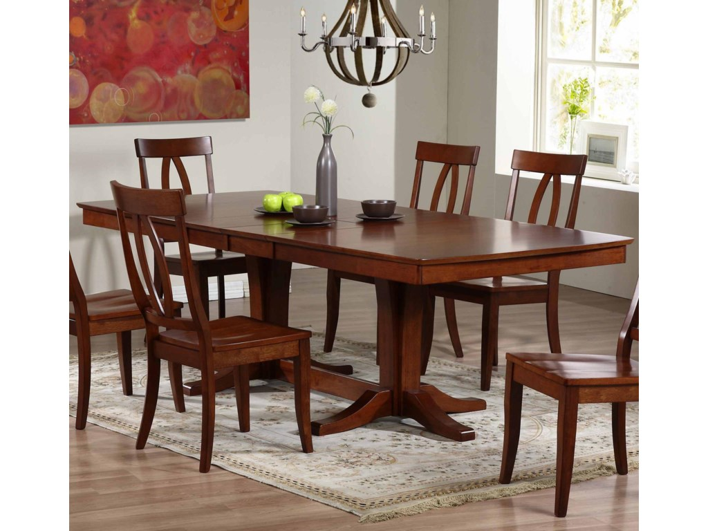 Winners Only Santa Barbara SBF Double Pedestal Dining Table ...