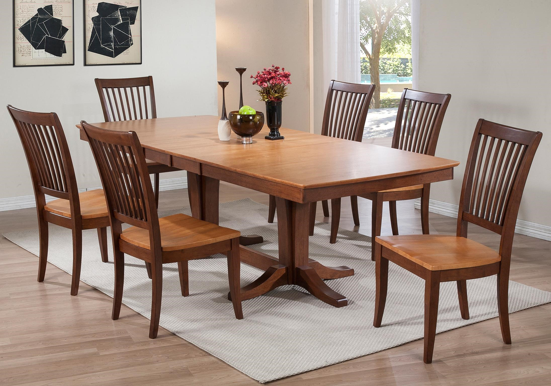 Santa Barbara 7 Piece Dining Set with Slat Back Chairs & Santa Barbara 7 Piece Dining Set with Slat Back Chairs | Rotmans ...