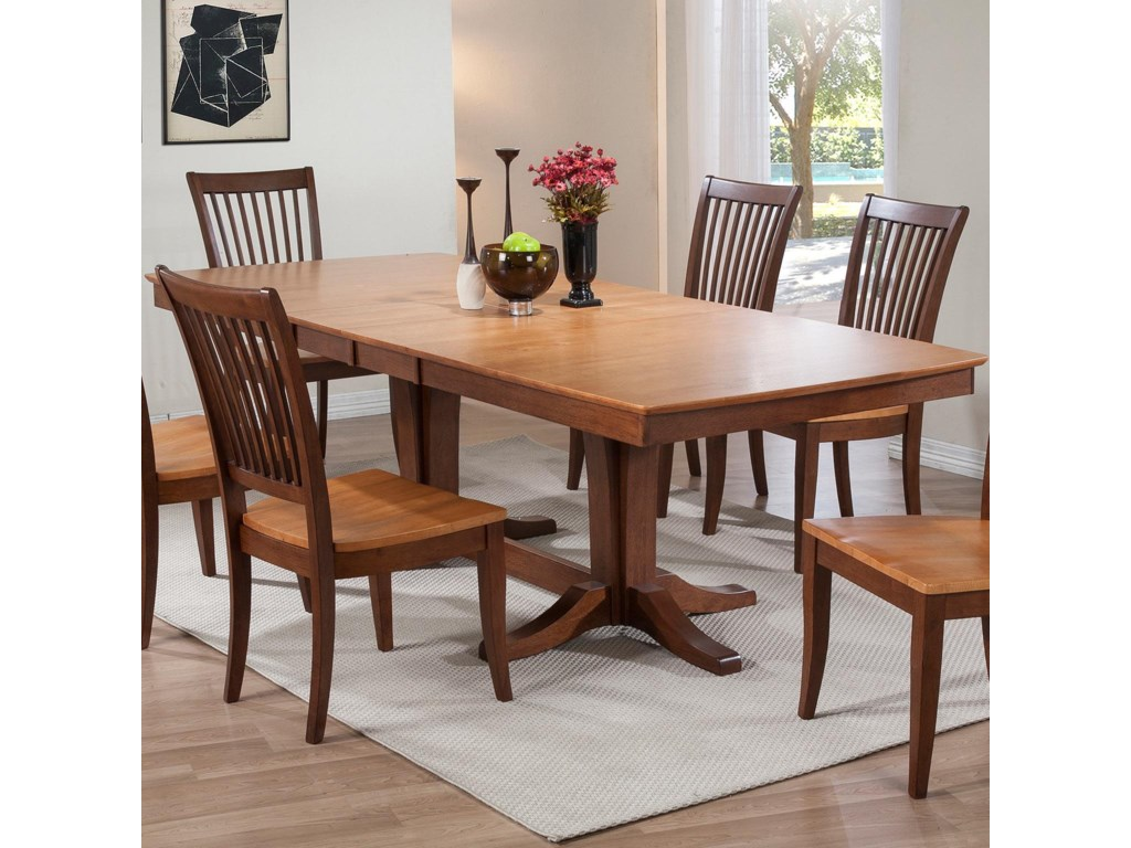 Winners only santa barbaradouble pedestal dining table