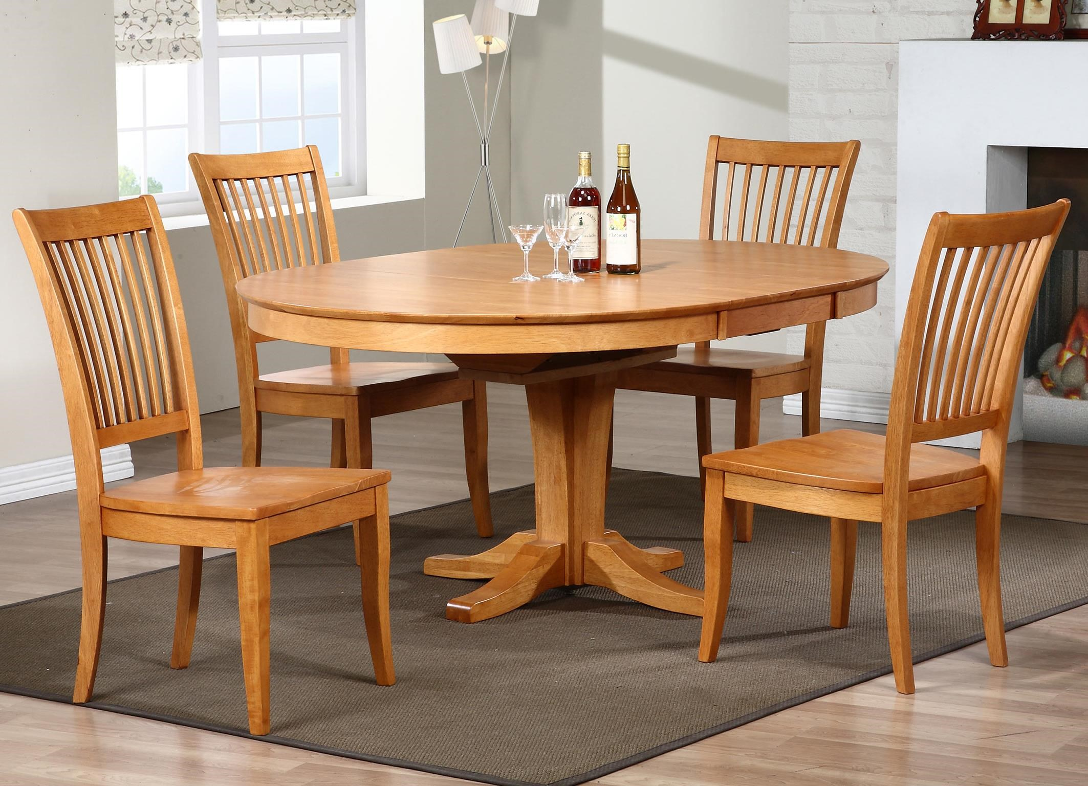 Winners Only Santa Barbara SBF5 Piece Dining Set With Slat Back Chairs
