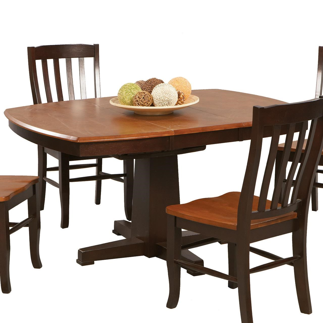 Winners Only Santa Fe   Chestnut/EspressoSingle Pedestal Dining Table ...