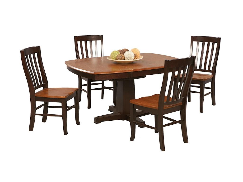 Winners Only Santa Fe - Chestnut/EspressoSingle Pedestal Dining Table