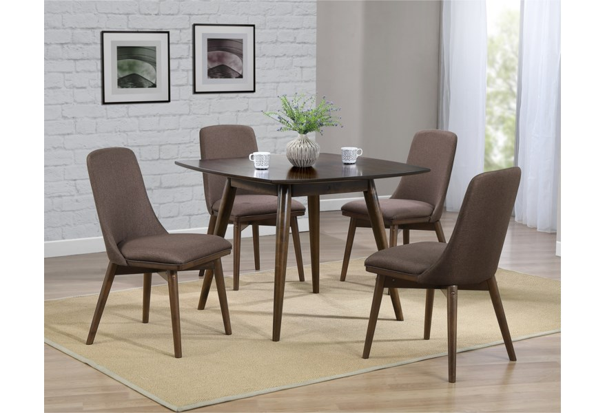 Winners Only Santana Ds54040 Mid Century Modern Square Dining Table With Splayed Legs Gill Brothers Furniture Kitchen Tables