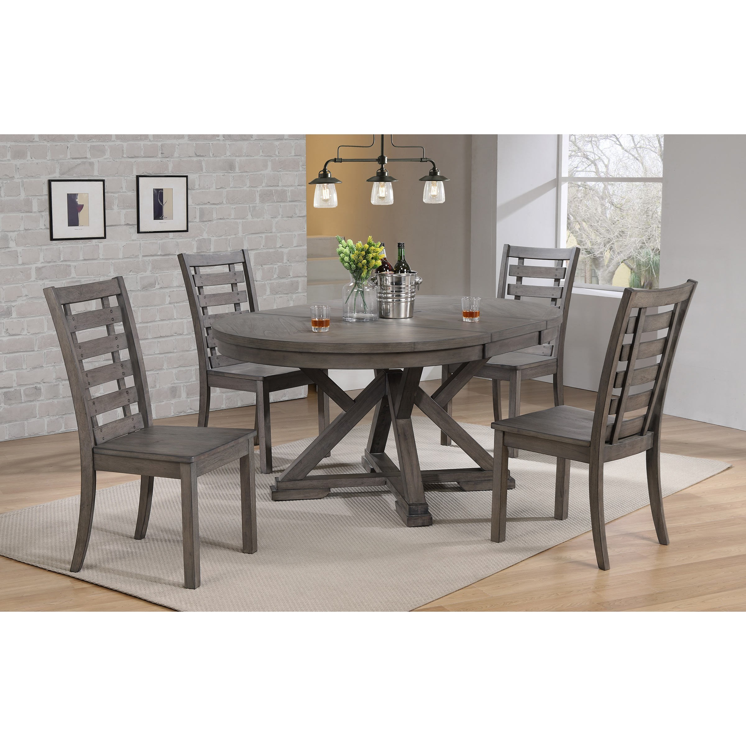 Picture of: Winners Only Stratford Transitional 5 Piece Dining Set Sheely S Furniture Appliance Dining 5 Piece Sets
