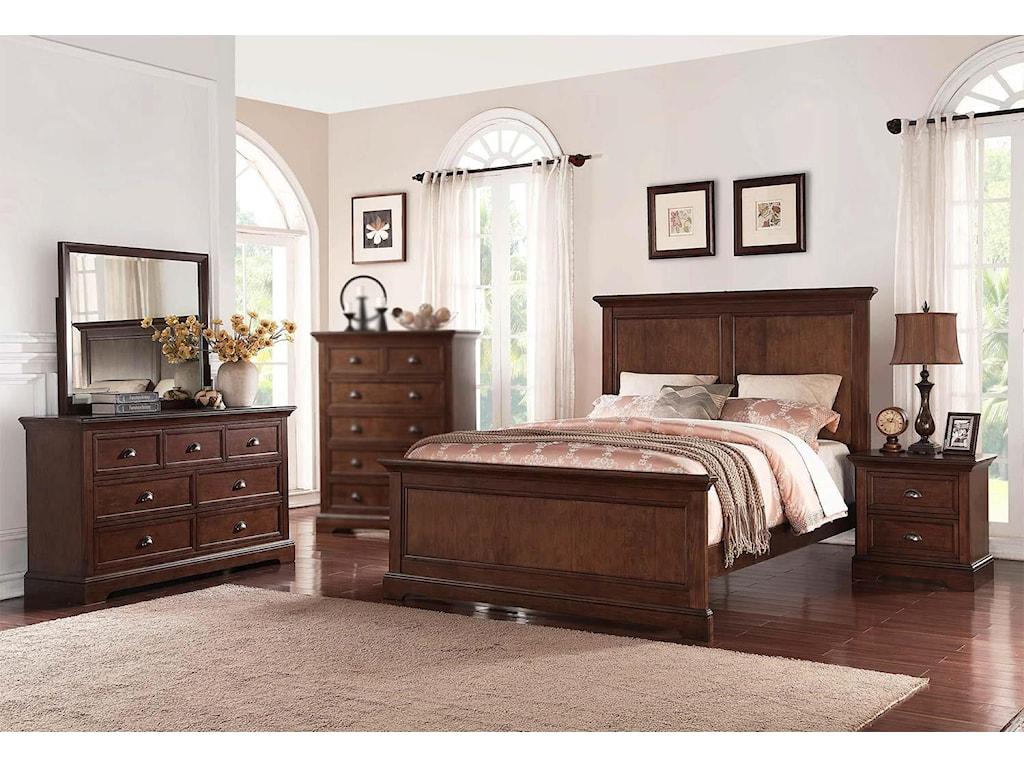 Winners Only Travis4PC Queen Bedroom Set