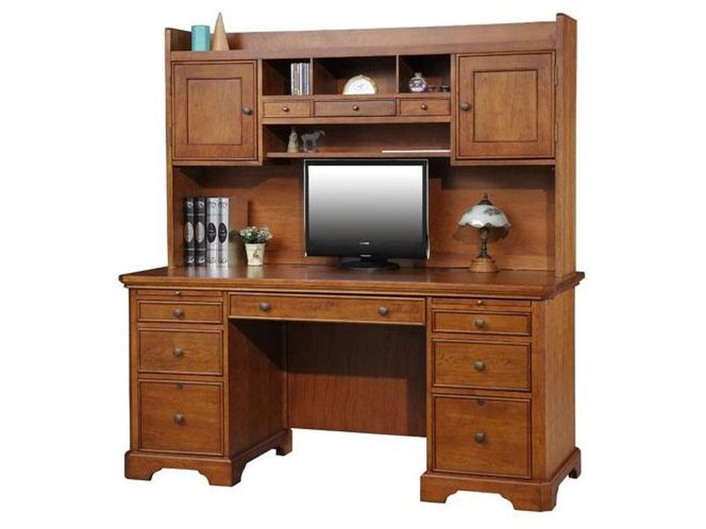 Winners Only Topaz Gt266f H Double Pedestal Desk And Hutch Dunk