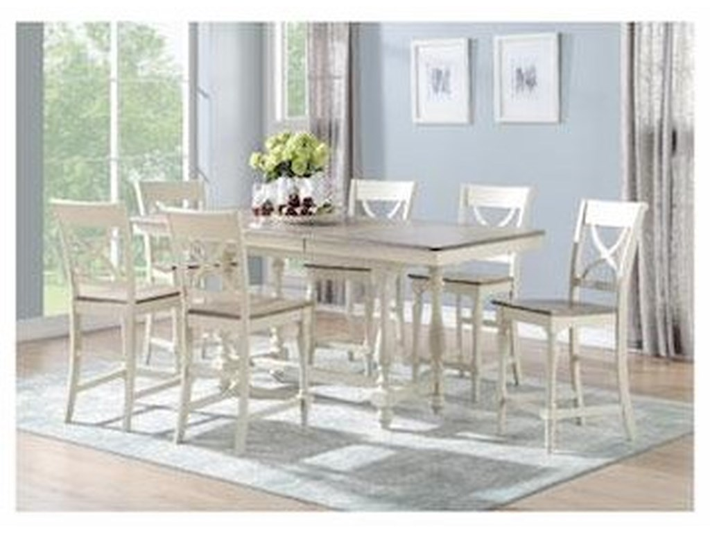 Winners Only Torrance7 PC Counter Table Set