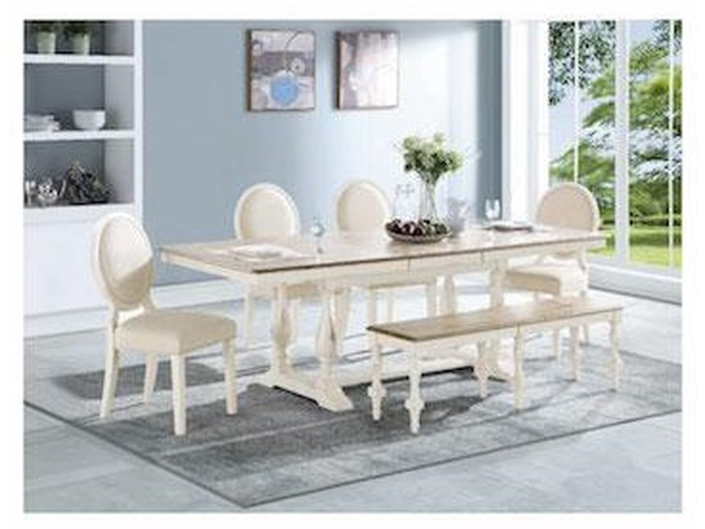 Winners Only TorranceTable & 4 Chairs with Bench
