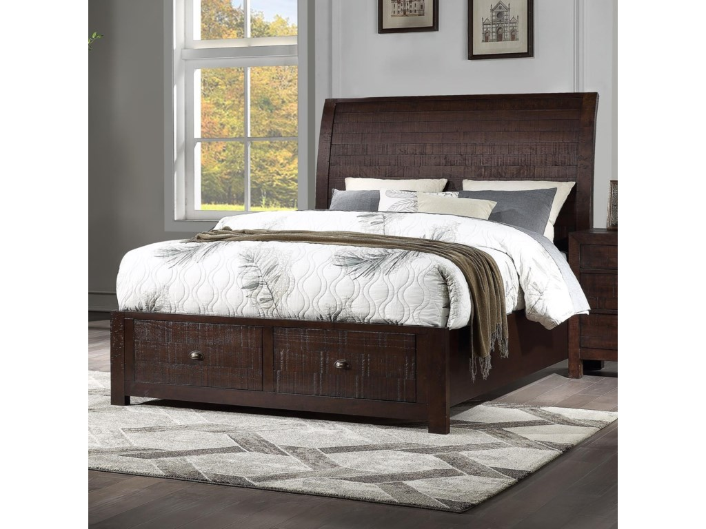 Winners Only UnionCalifornia King Storage Sleigh Bed