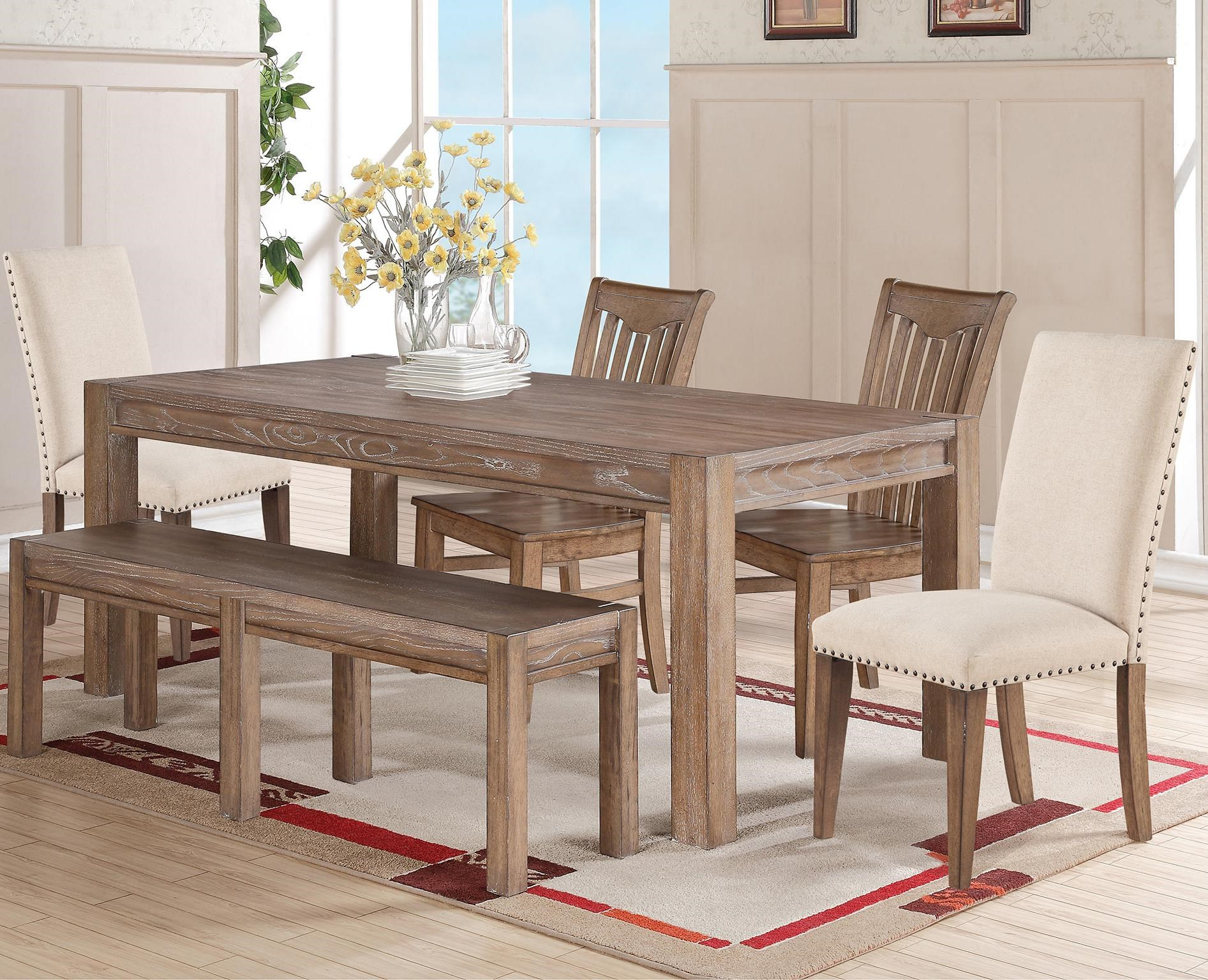 6 Piece Dining Set With Bench Signature Design By Ashley Trishley