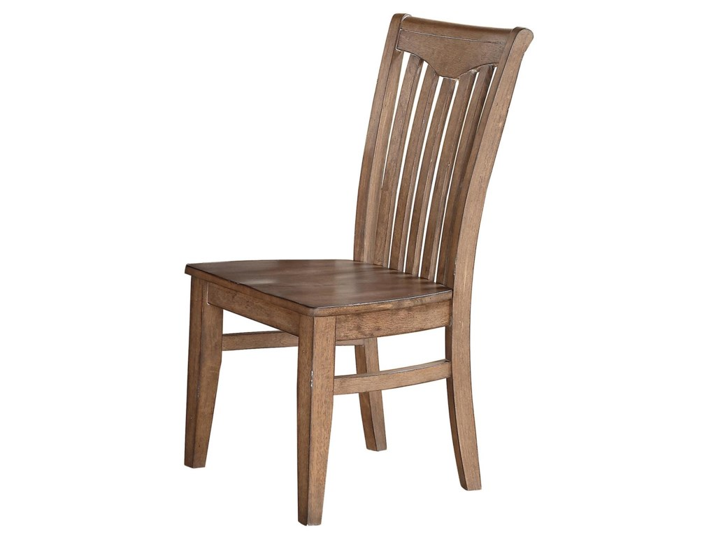 Winners Only Urbana DU1451SG Slat Back Side Chair With Tapered Legs