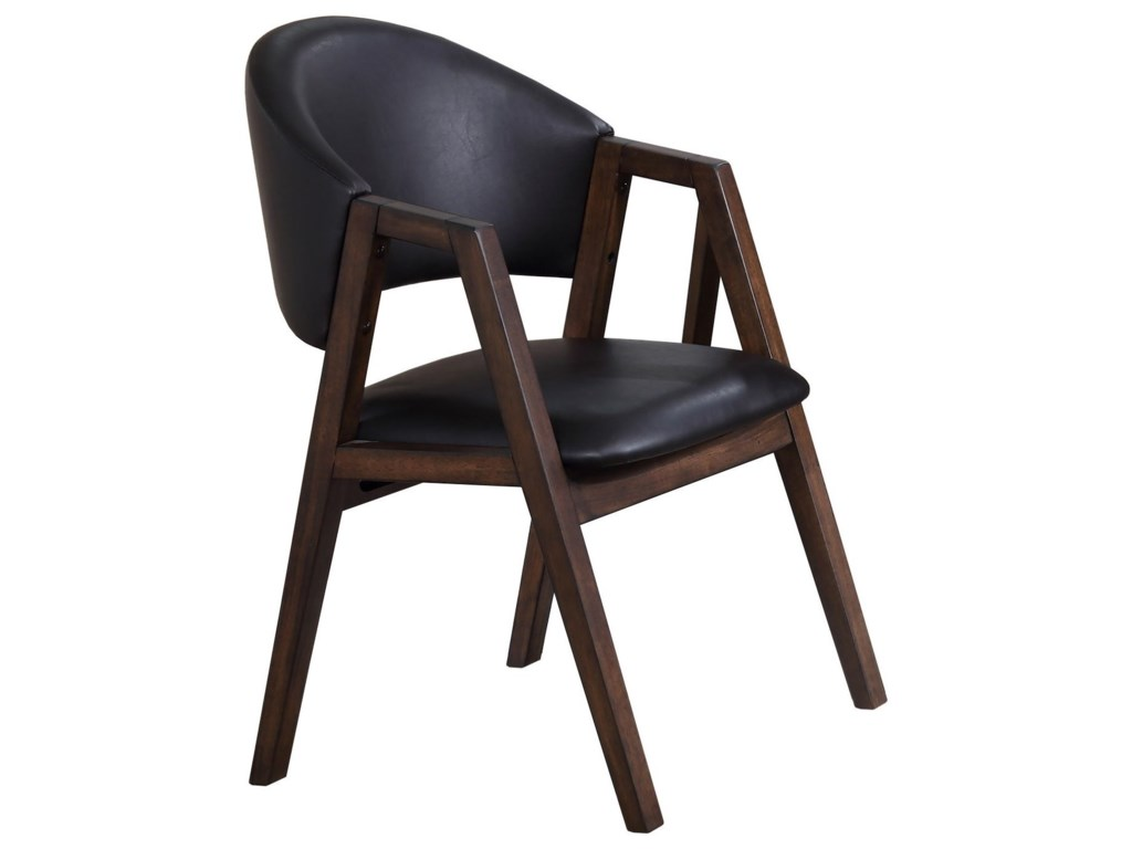 Winners only vancouver contemporary arched back upholstered side chair