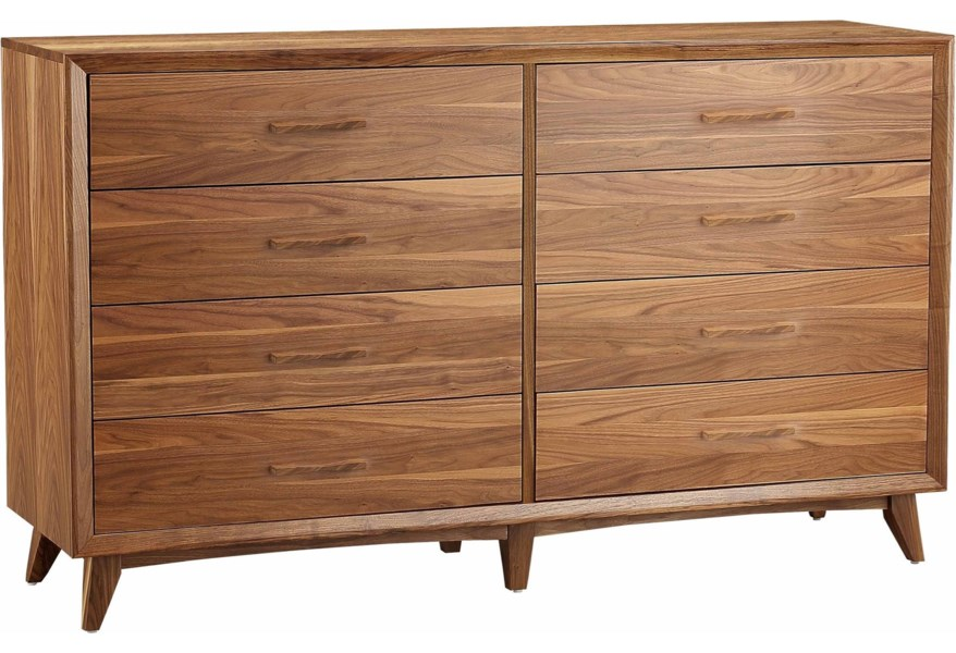 Winners Only Venice Contemporary 8 Drawer Dresser With Full Extension Drawer Lindy S Furniture Company Dressers