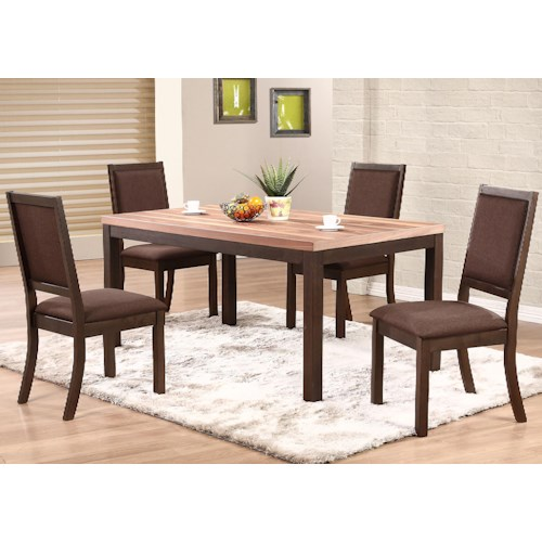 Winners Only Venice 5 Piece Dining Set With Cushioned Side