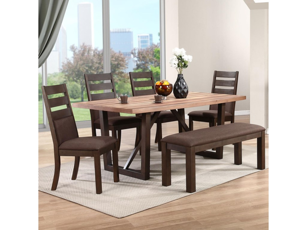 Winners Only Troyer6 Piece Dining Set with Bench