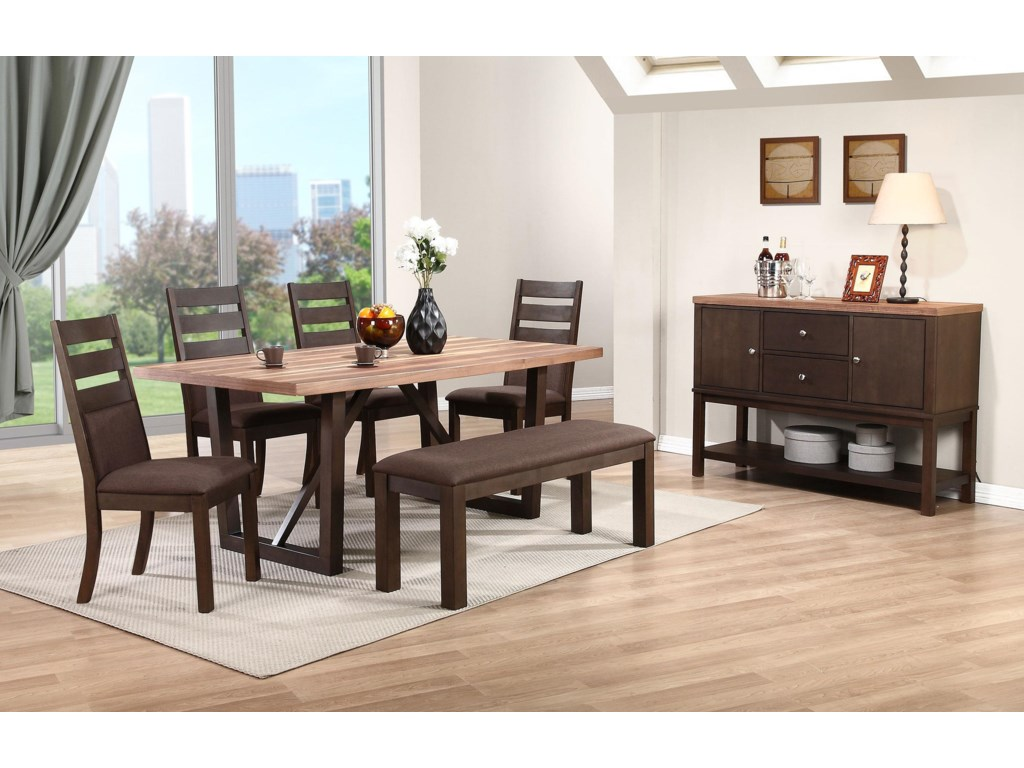 Winners Only Venice6 Piece Dining Set with Bench