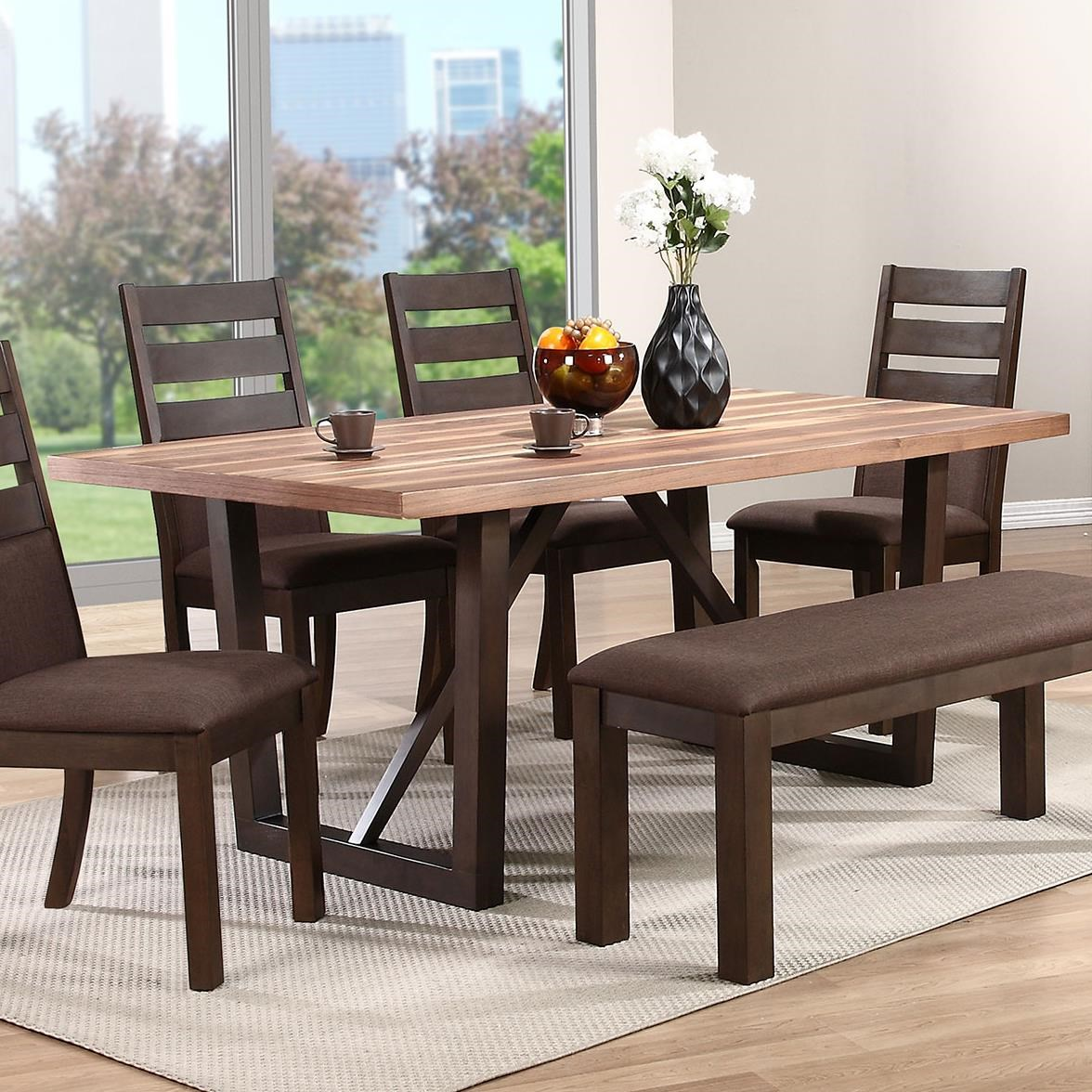 troyer two-tone rectangular trestle table - rotmans - dining room