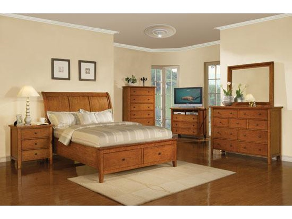 Winners Only VintageQueen 2-Drawer Storage Bed