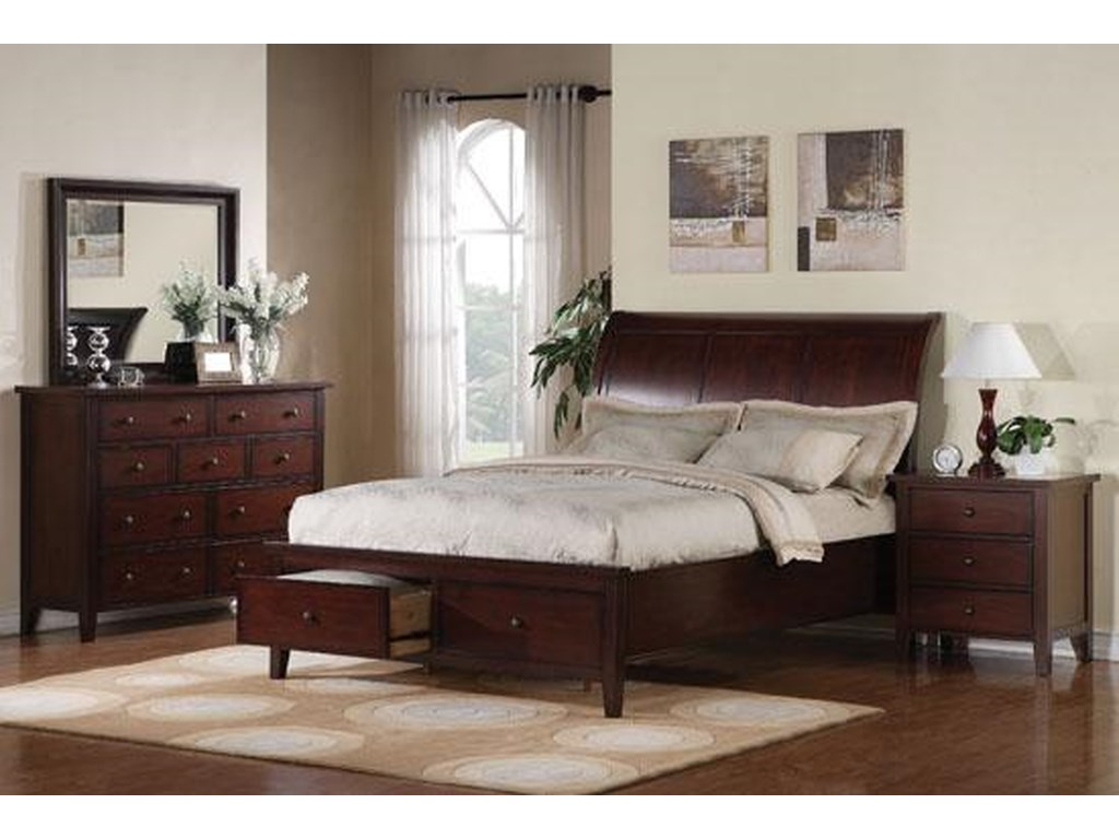 Winners Only VintageCalifornia King 2-Drawer Storage Bed