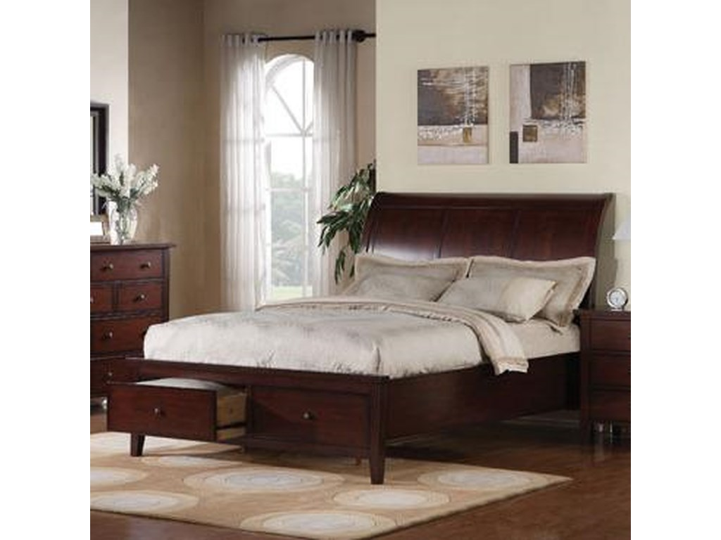 Winners Only Clic Cherryking 2 Drawer Storage Bed