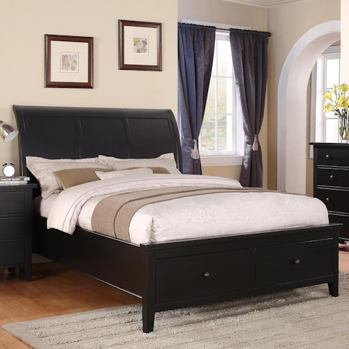 Winners Only Vintage - BV Queen 2-Drawer Storage Bed