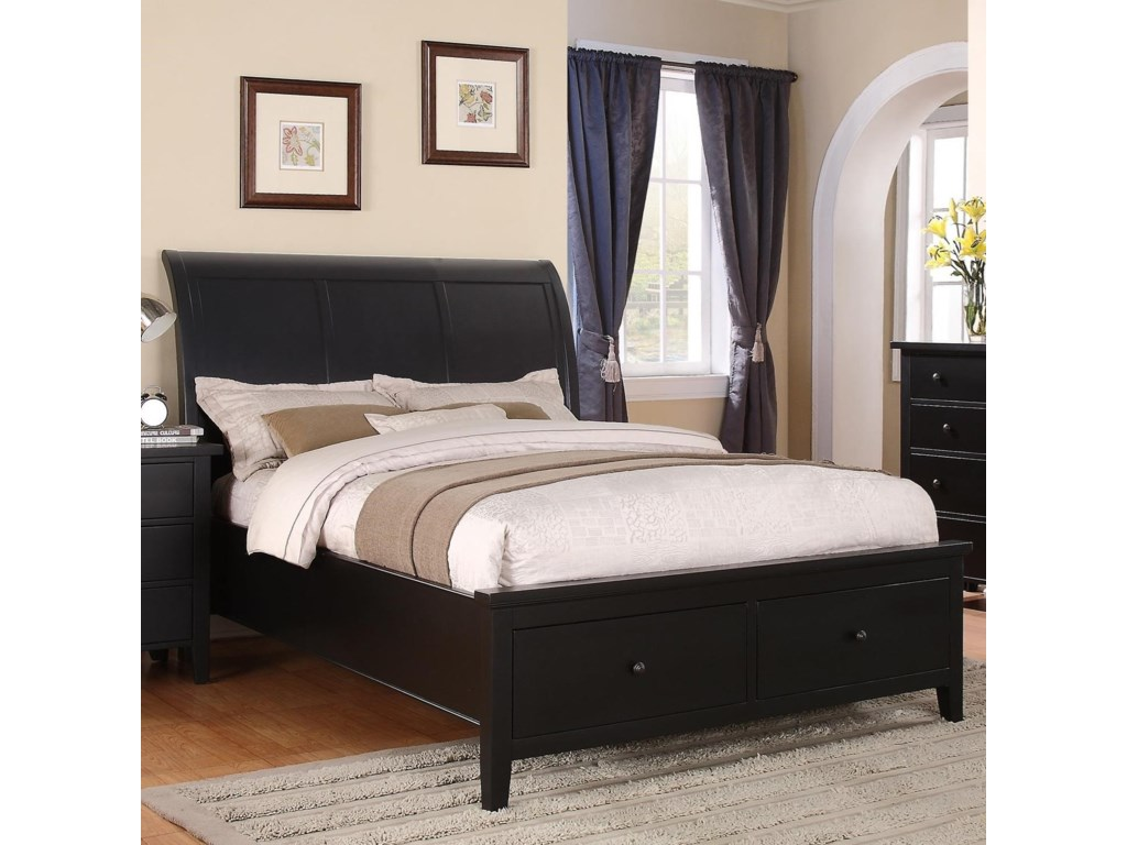 Winners Only Vintage - BVCalifornia King 2-Drawer Storage Bed